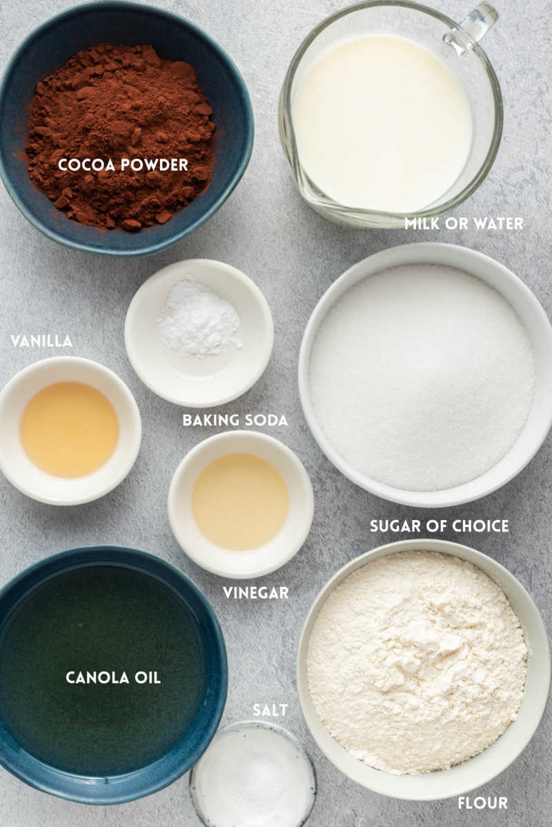 vegan chocolate cake ingredients