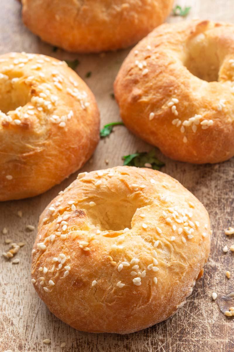 no yeast bagels