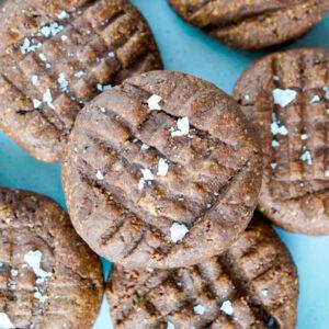 vegan chocolate peanut butter cookies