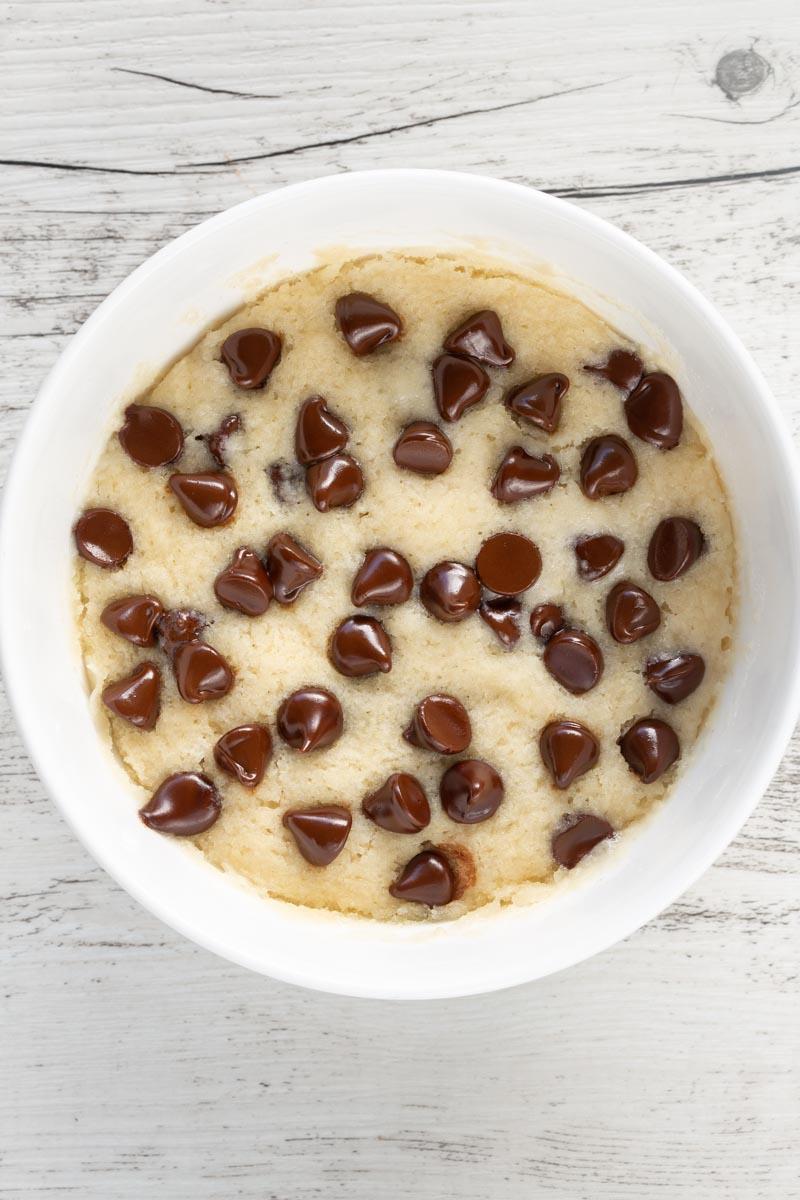 eggless vanilla mug cake